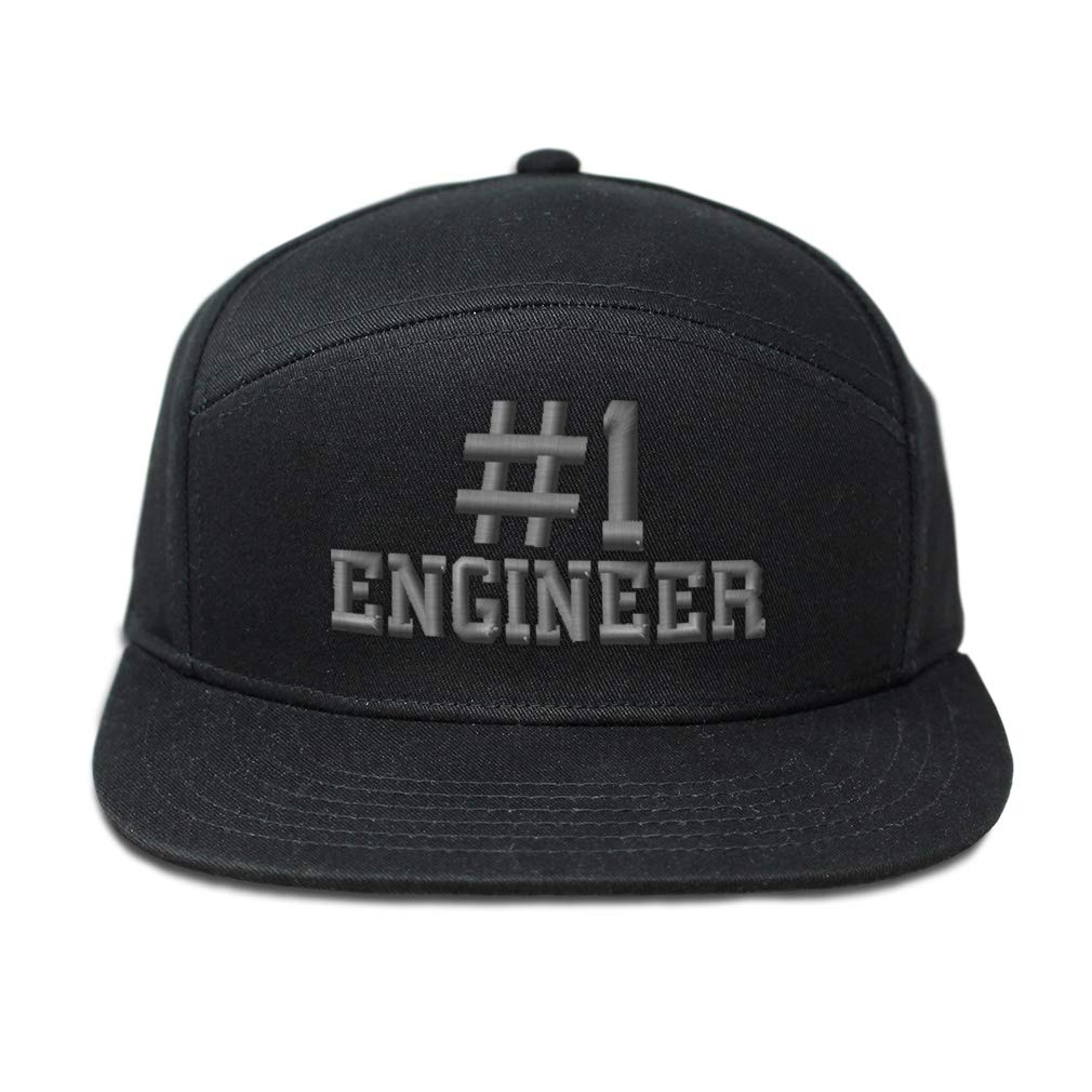 Custom Snapback Hats for Men /& Women Number #1 Engineer Embroidery Cotton