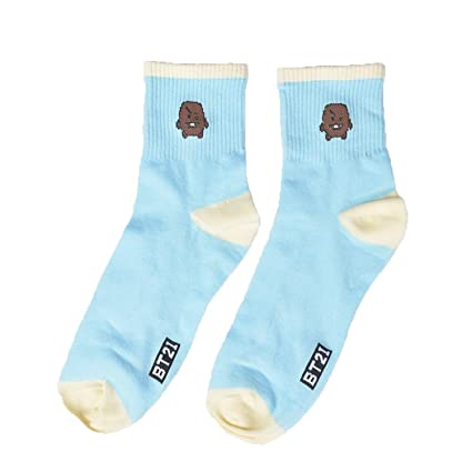 cb3b83395df96 Amazon.com : SuperSilk Kpop BTS Cartoon Cotton Socks BT21 CHIMMY ...