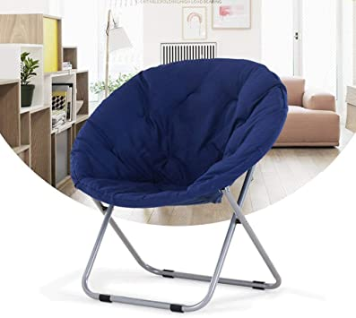 Saucer Chair Disc Chair Folding Lounge Chair Metal Frame Balcony Chair Office Chair Moon Chair Purple Blue Blue Amazon De Kuche Haushalt
