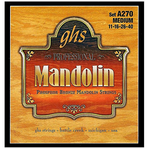 GHS Strings A270 Phosphor Bronze Mandolin Strings, Medium (.011-.040)