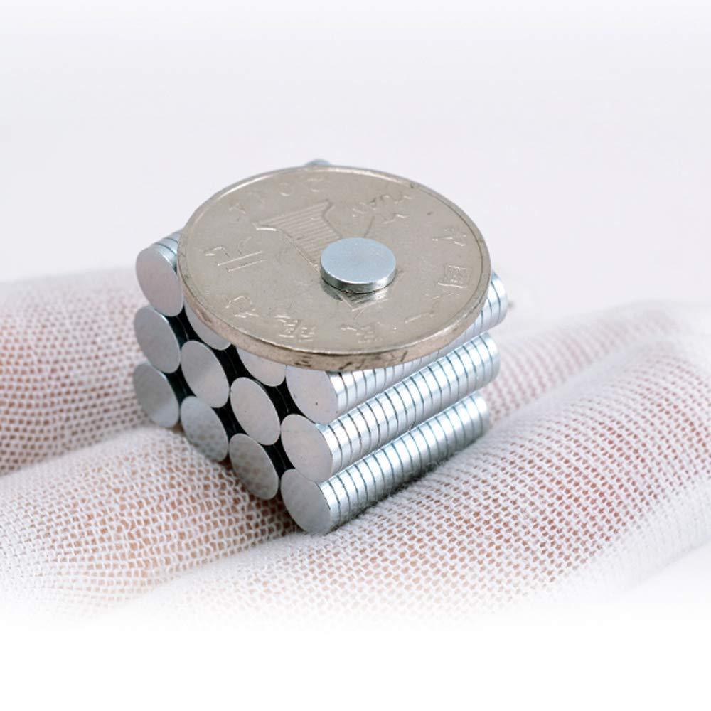 SYHL 120Pcs 6x1mm(0.234X0.04in) Refrigerator Premium Brushed Nickel Fridge Office Magnets.