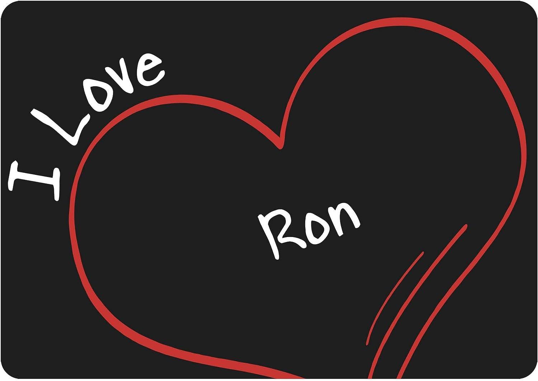Ratón modern I Love Ron negro: Amazon.es: Informática
