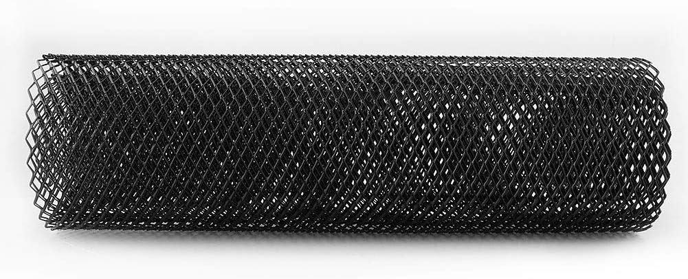 Rockyin 6x12mm Aluminum Alloy Car Grille Mesh Net Grid Body Bumper Rhombic Grill Universal