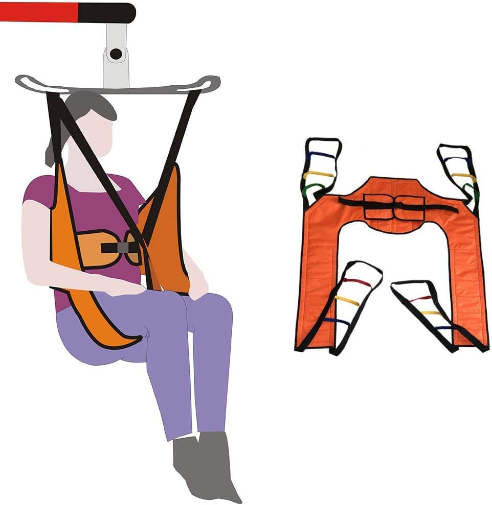 Lift Sling Patient Lifts for Home Use Electric Transfer Belt Toileting Commode Sling Without Head Support Medical Handicap Four Point Sling