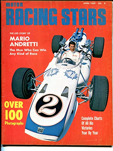 Motor Racing Stars-Mario Andretti -#2 4/1969-Indy-sprints-stocks-photos-VG/FN