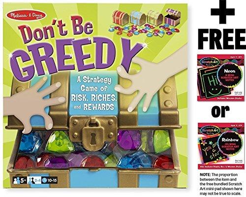 Don't Be Greedy Game + FREE Melissa & Doug Scratch Art Mini-