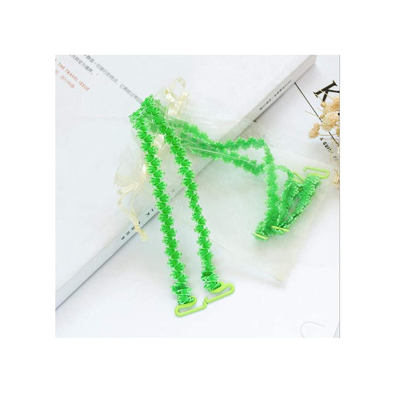 Thin Bandwidth Hook Lace Trim Shoulder Strap Off Shoulder Decorative Bra With Hook,Army Green