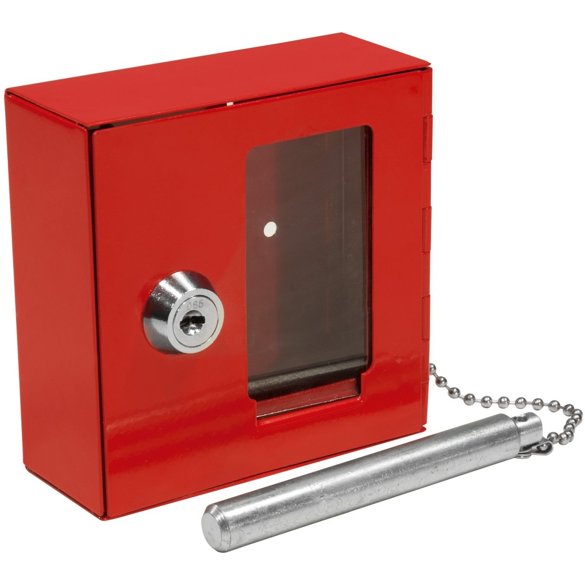 Barska AX11838 Breakable Emergency Key Box with Attached Hammer (Red)
