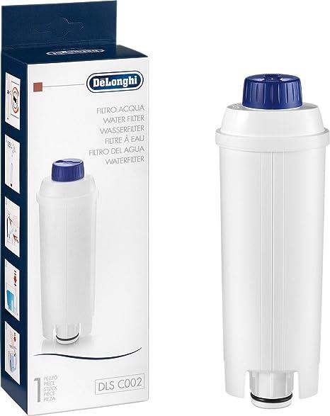 Delonghi DLS C002 Filtro De Agua Para Cafeteras, Blanco, 1 Unidad
