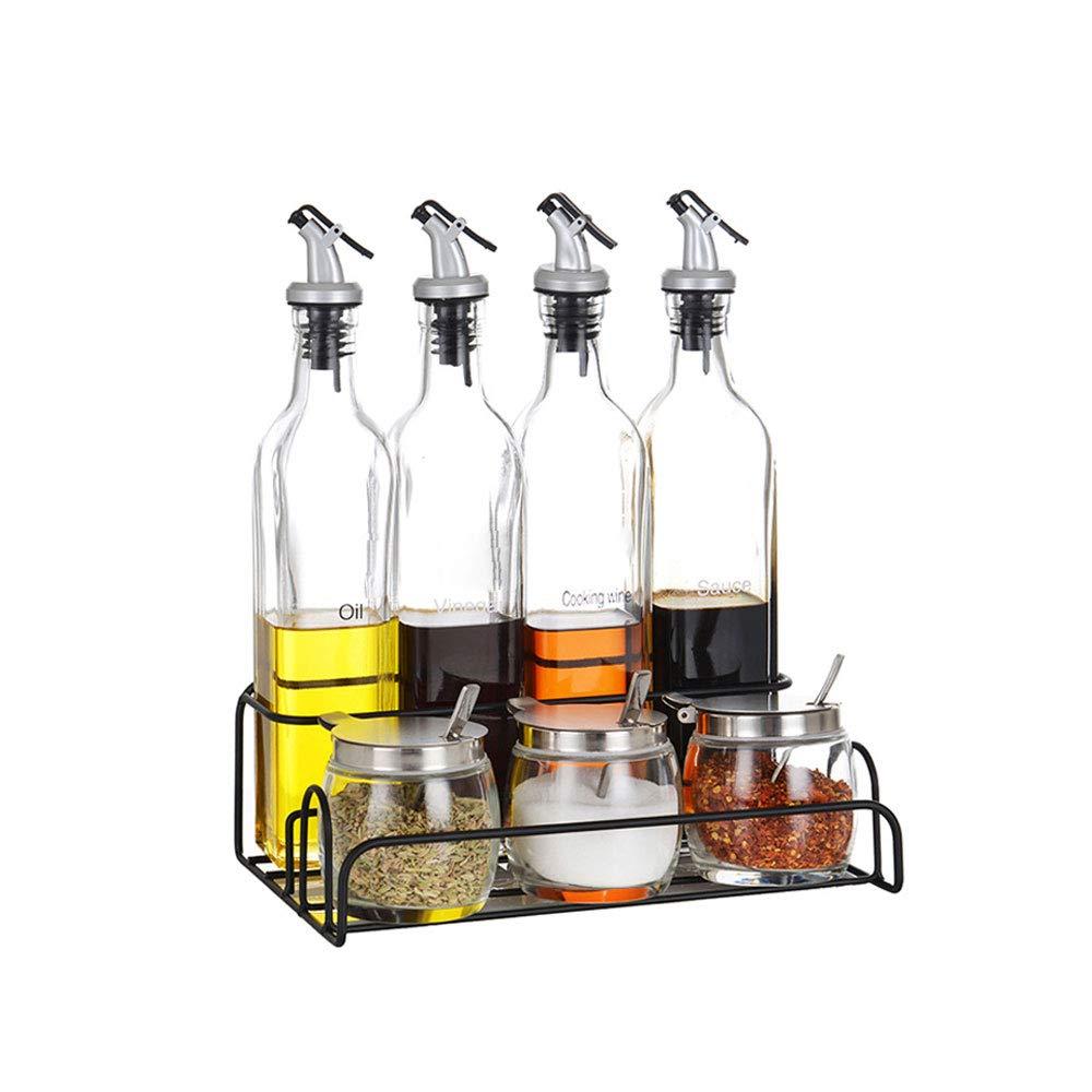 Kaiyu Geschirr Glas Gewürzbehälter Gewürzkasten Gewürzglas Gewürzflasche Gewürzglas Set