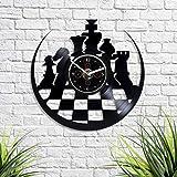 HandmadeCorp Chess Wall Clock Vintage Vinyl Record