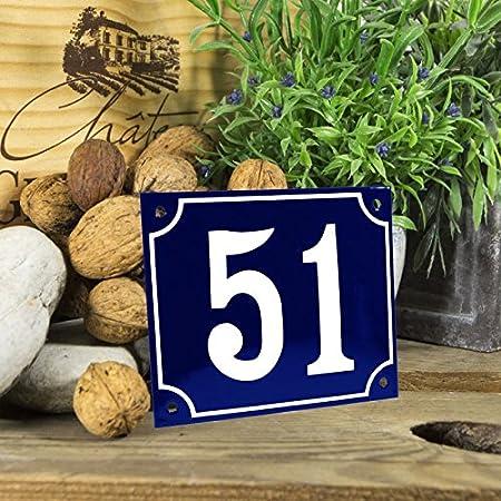/Chiffres de 1//à 99/disponibles/ /choisissez votre Num/éro/ Emaille Num/éro de maison/ /Bleu//blanc Grand format 18/x 15/cm/ /Livraison imm/édiate.