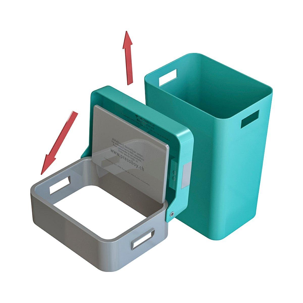 Pressboy - Mülleimer mit integrierter Pressvorrichtung - Müllpresse ...