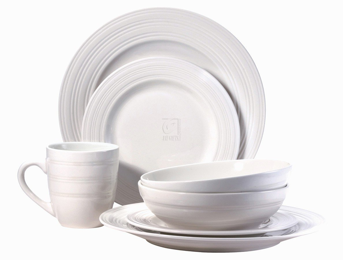 Amazon.com | Thomson Pottery Sphere 16 PC Dinnerware Set Service For ...
