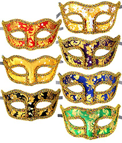 12pcs Set Evening Prom Venetian Masquerade Masks Costumes