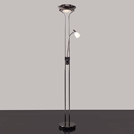 Mother and Child Floor Lamp - Black Chrome - Complete With LED Bulbs ...