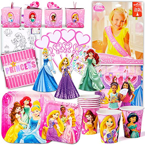 [Disney Princess Party Supplies Ultimate Set (150 Pieces) -- Party Favors, Birthday Party Decorations, Plates, Cups, Napkins, Table Cover and] (Disney Jasmine Wand)