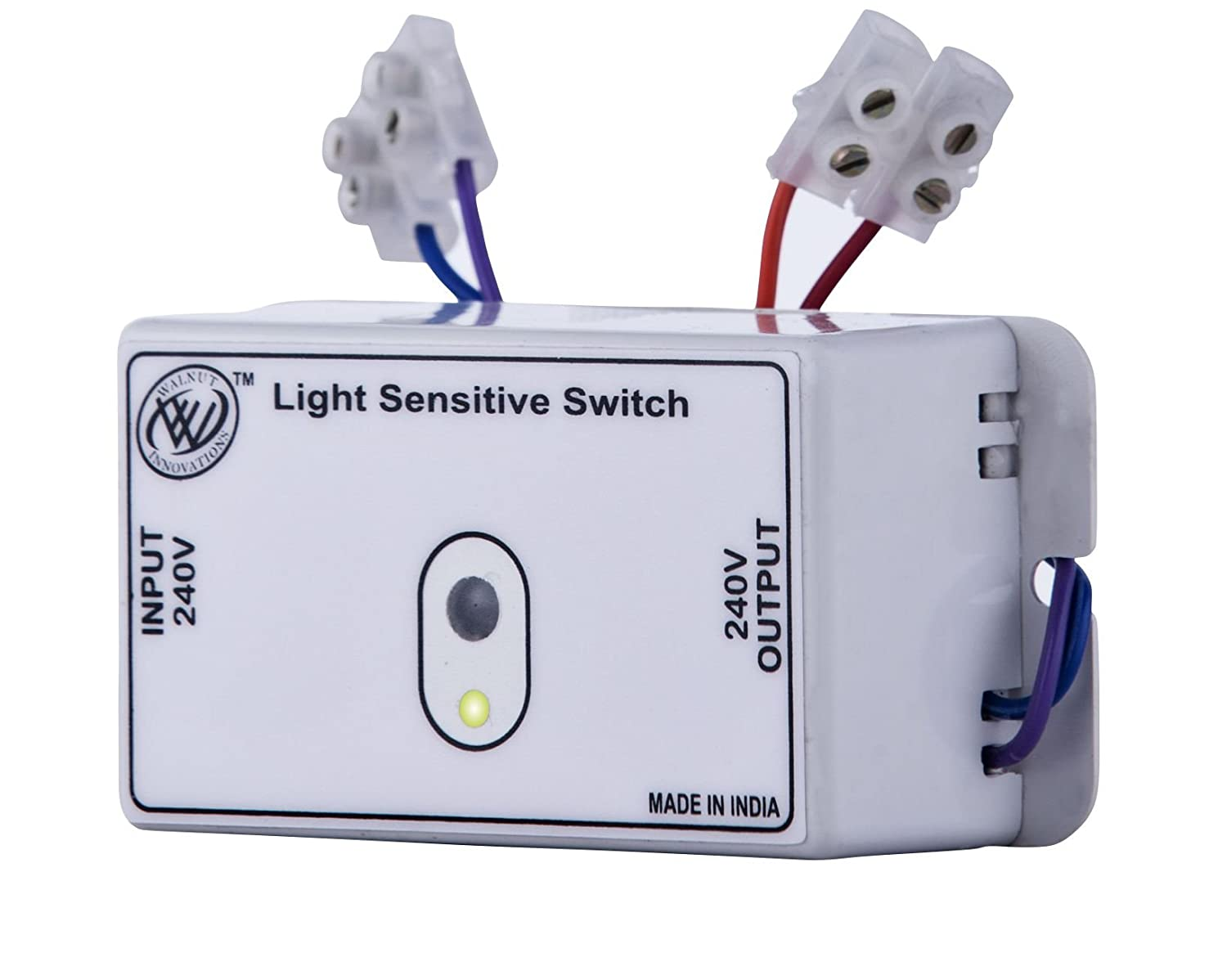 Walnut Innovations Plastic Day Night Automatic Light Sensor Switch Daylight Wiring Diagram Also With Circuit Siemens Grey Home Improvement