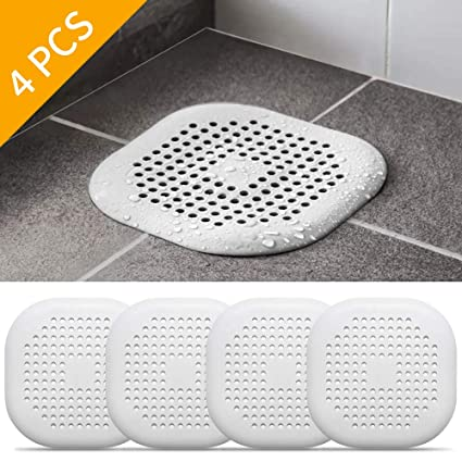 WHITE DRAIN STRAINERS Standard Size Sink Bath Shower Plughole Cover Trap Filter
