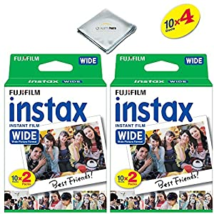Fujifilm instax Wide Instant Film for Fujifilm instax Wide 300, 200, and 210 cameras