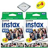 Photo : Fujifilm instax Wide Instant Film 4 Pack (40 Exposures) for Fujifilm instax Wide 300, 200, and 210 cameras w/ Microfiber Cloth by Quality Photo