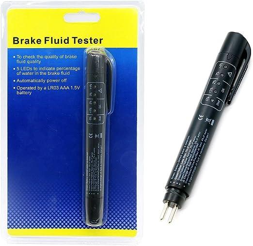 Auto Brake Fluid Quality Test Pen Tester 5 LED Display Indicator Electronic Tool