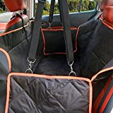 Large Dog Seat Covers With Extra Side Flaps - Hammock Waterproof Pet Back Seat Cover With Seat Anchors for Cars, Trucks and SUV - Non Slip, Machine Washable Fragralley