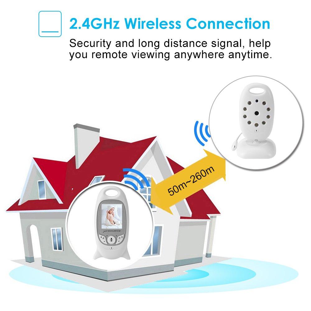 Talkback Zwei-Wege Audio Home Surveillance Kamera F/ür Haussicherheitssystem +Baby Haustier Video Monitor Babyphone Wireless Live Kamera Nachtsicht Temp Sensor Langzeit-Signal