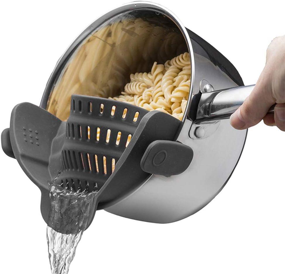 Casserole en silicone clip-on souche de filtre /égouttoir passoire de nouilles v/ég/étales de leau Filter /étanche