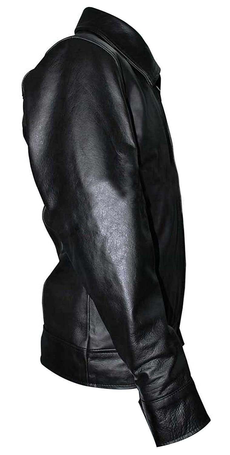 American Gangster Richie Roberts Bomber Stylish Mens Black Best Genuine Leather Jacket