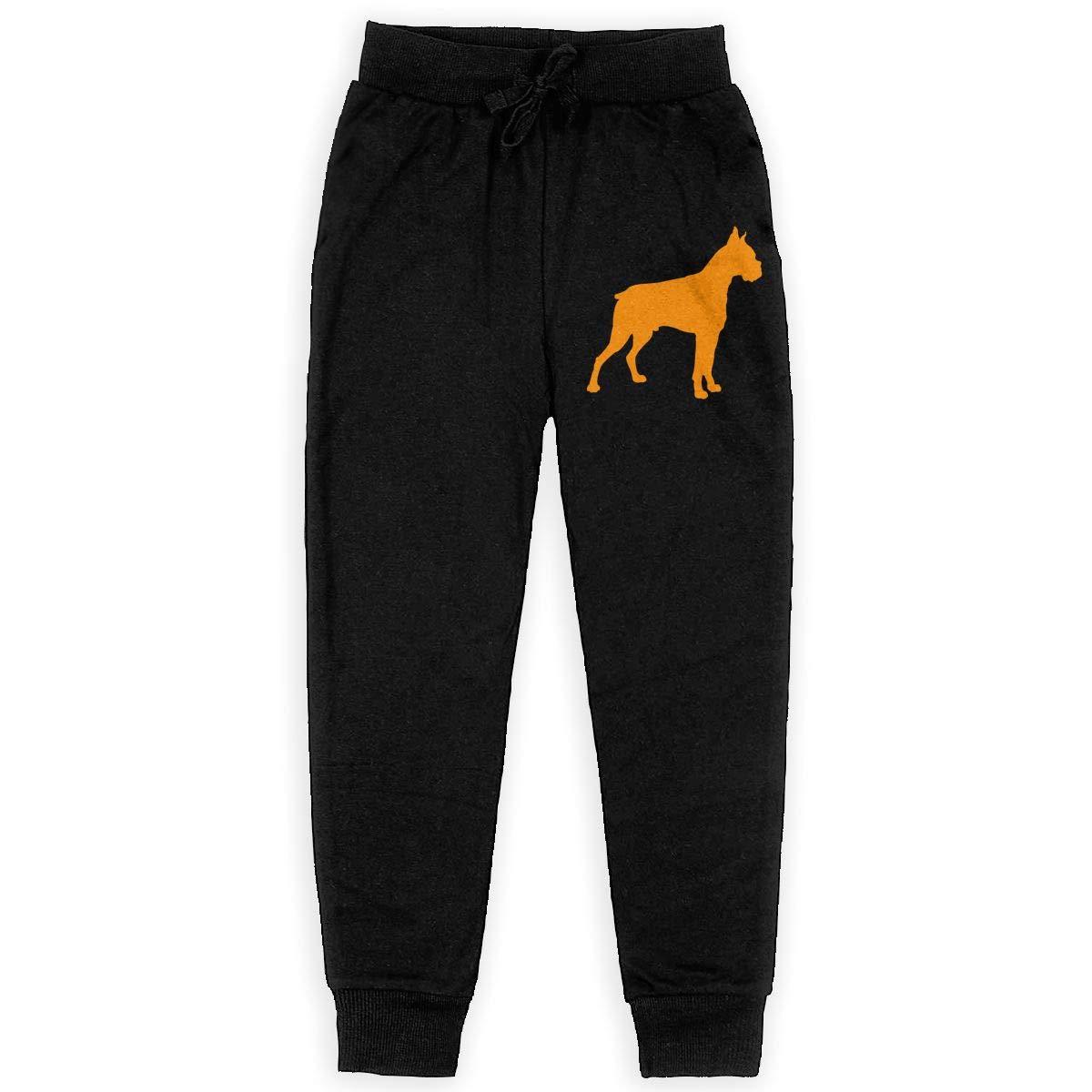 Teenager Active Pants for Teen Girls WYZVK22 Boxer Dog Soft//Cozy Sweatpants