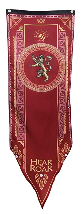 """Calhoun Game of Thrones House Sigil Tournament Banner (19"""" by 60"""") (House Lannister)"""