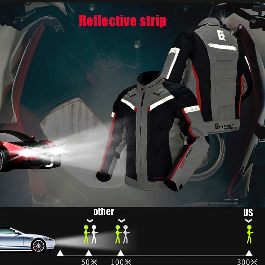 ZWPY Giacche da Moto,Quattro Stagioni Idrorepellente Invernale Abbigliamento da Moto Anti-Caduta Tuta da Rally Pantaloni da Ciclismo,con Strisce Riflettenti Nero