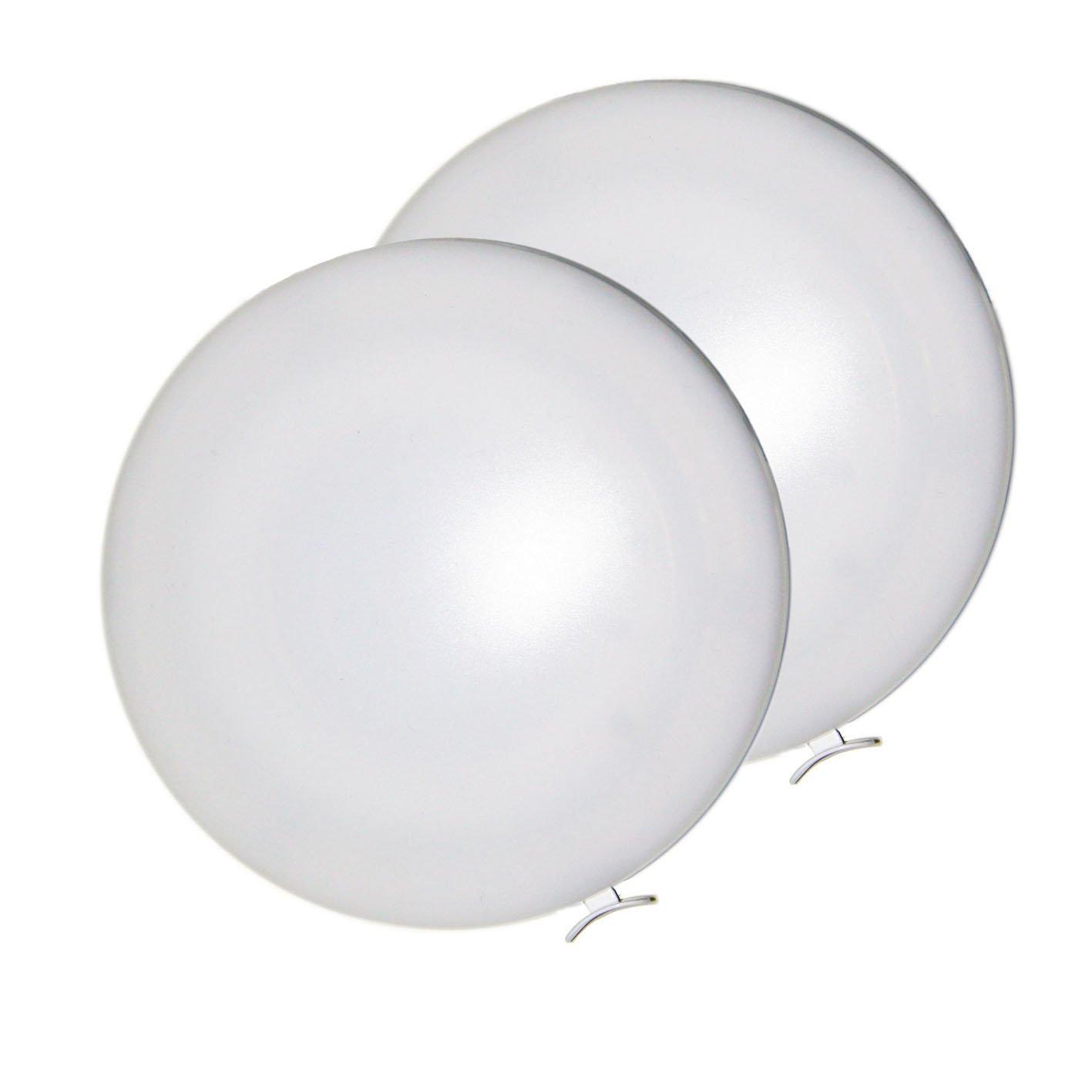 2 x Lampe LED 12 x 12 x 1.7cm Classe /énerg/étique A+ Yachts LIGHTEU 12V 6W Plafonnier Marins Camping-Cars et Bateaux Montage Super Facile avec interrupteur pour les Caravanes