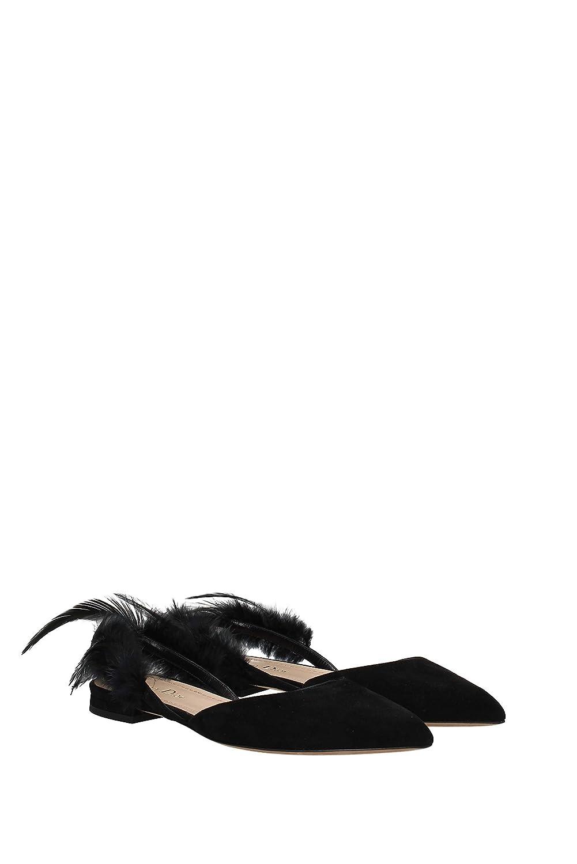 46f054670e2 Amazon.com | Dior Womens Black Suede Ethnie Feather Flats Size IT37 ...