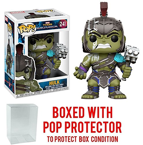 Funko Pop  Marvel  Thor Ragnarok   Hulk Helmeted Gladiator  241 Vinyl Figure  Bundled With Pop Box Protector Case