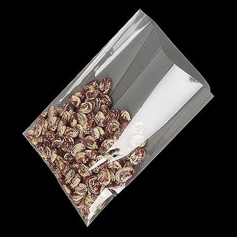 Bolsas de celofán sin cierre, 12,7 x 17,8 cm, ideal para piruletas, galletas y dulces