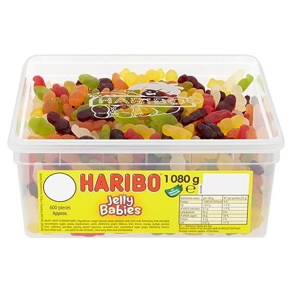 Haribo Jelly Babies Jelly Men, Bulk Sweets, 1kg Tub by Haribo