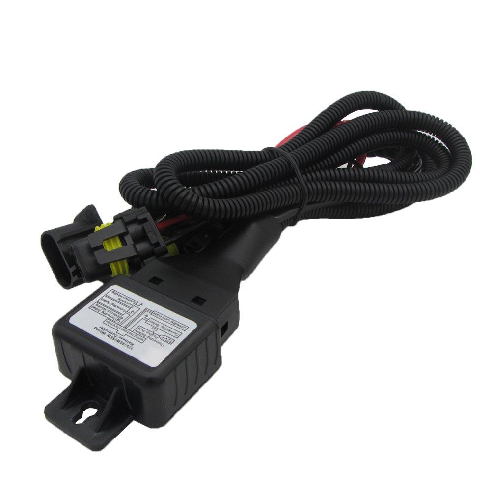 H3 H4 LED light bar Kit di conversione Xenon 55 W HIDTutte le dimensioni e i colori delle lampadine con reattori digitali H1 Style : H1-10000K H7 9005//9006//880//881 H11