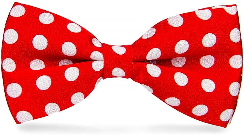 Taille unique Rouge Noeud Papillon Rouge /à/ pois Blancs gros pois