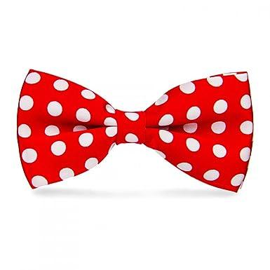 nouveau pas cher belle couleur le plus populaire Noeud Papillon Rouge à pois Blancs (gros pois), Rouge, Taille unique
