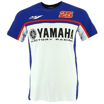 Maverick Vinales 25 Moto GP Yamaha Factory Racing Camiseta Oficial 2017: Amazon.es: Deportes y aire libre