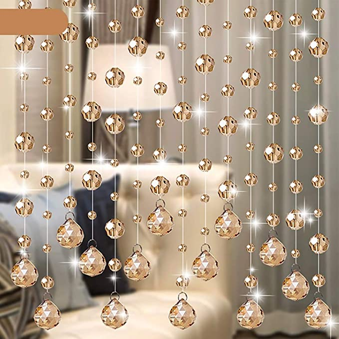 GuoWei - Cortinas con Cuentas de Cristal para decoración de Habitaciones o Puertas, Varios tamaños: Amazon.es: Hogar