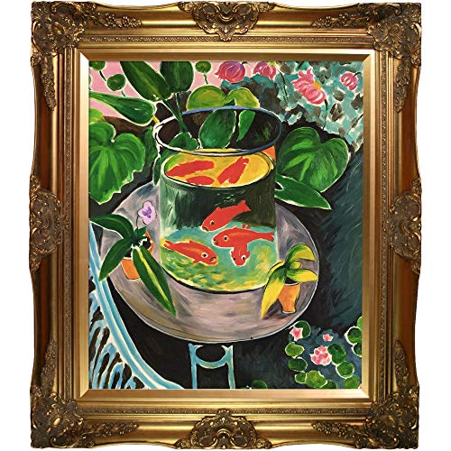 overstockArt Matisse Red Fish with Victorian Frame, Gold Finish ()