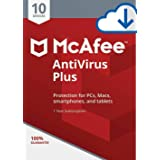 McAfee AntiVirus Plus 2019/2020, 10 Multi-Devices 1 Year (Digital Download Only) No-CD Delivery on same day via Amazon Messag