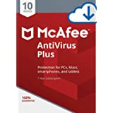 McAfee AntiVirus Plus 2019/2020, 10 Multi-Devices 1 Year (Digital Download Only) No-CD Delivery on same day via Amazon…