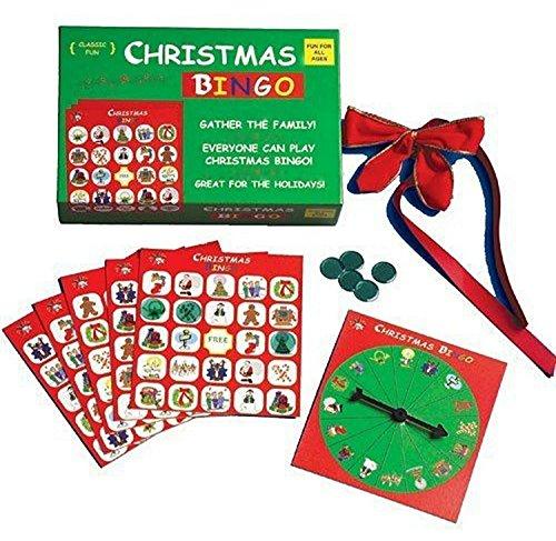 Merry Christmas Bingo - The Original and Classic Christmas Bingo Game - Have a very Merry Christmas with our popular Christmas Bingo Game, complete with bingo game cards, bingo chips and a bingo spinner!