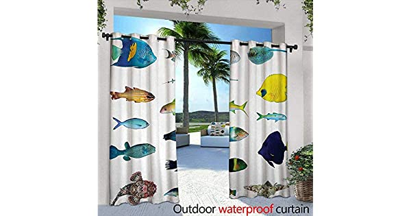 Amazon.com: BlountDecor - Cortina de ventana con estampado ...