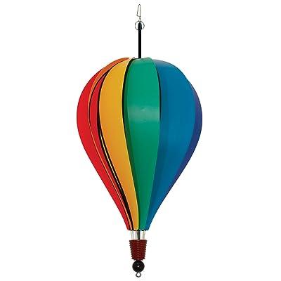 "In the Breeze Rainbow Poly 10-Panel Hot Air Balloon, 18"" Balloon : Wind Socks : Garden & Outdoor"