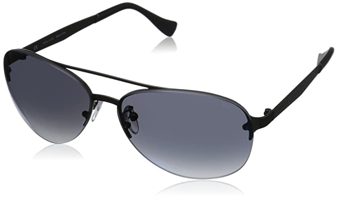 Police S8956 - gafas de sol Hombre, Azul (Matt Gunmetal ...